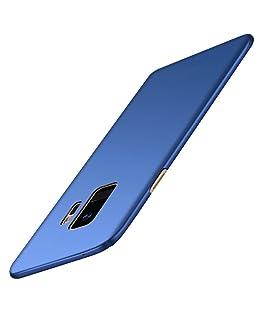 MuSheng For Samsung Galaxy S9 Hülle,Stoßfest Handy Fall Stark Schutzhülle Ultra Thin Luxus Hart PC Schutzhülle für Samsung Galaxy S9 5,8 Zoll (Blau)