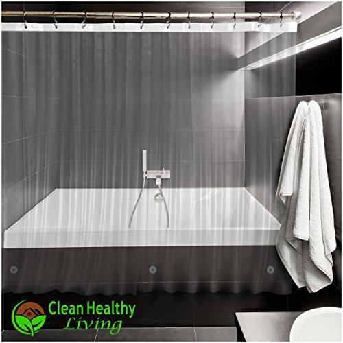 Heavy Duty PEVA Shower Liner Curtain Odorless Anti Mold