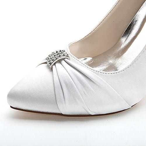 Corte 18 Boda Heel Trabajo de Elobaby Para La Stiletto de Bombas Mid Zapatos Red Low Mujer Kitten F0255 Plataforma BPxTx1w