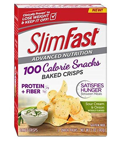 Slim Fast Advanced Potato Crisps Snacks, Sour Cream and Onion, 5 Ounce