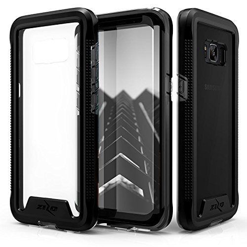 Zizo ION Series Compatible with Samsung Galaxy S8 Plus Case Military Grade Drop Tested with Tempered Glass Screen Protector Black Smoke
