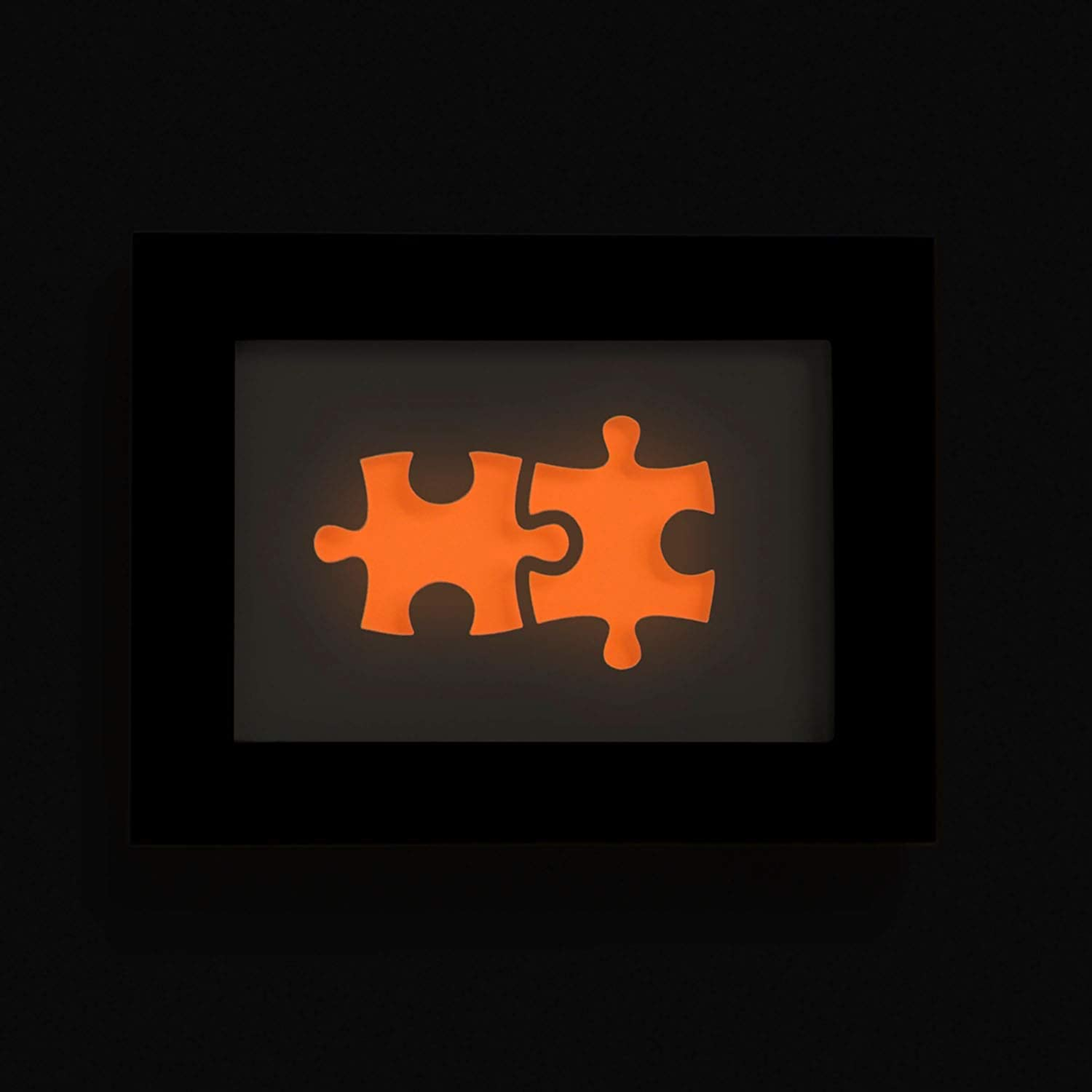 We fit together Puzzle Personalized Wedding Gift the Perfect Present for the Bride and Groom or Anniversary DIY the Name and Date Easily Glow in the Dark Paper Cut Art