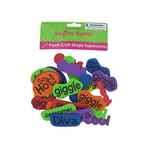 72 Foam craft shape word expressions by Generic