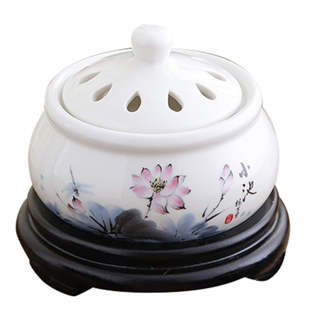 RXBFD Incense Burner - Timing Temperature Control Electronic Ceramic Aromatherapy Furnace - Agarwood Furnace Essential Oil Electronic Aromatherapy Lamp