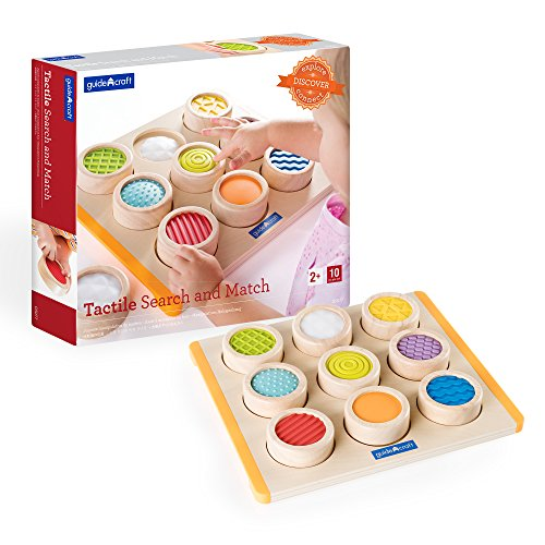 (Guidecraft Colorful Tactile Search and Match - Soft Textures Sensory Memory Game for Toddlers)