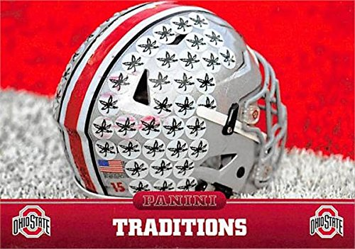 Ohio State Buckeyes football helmet picture trading card 2015 Panini Team Collection #10