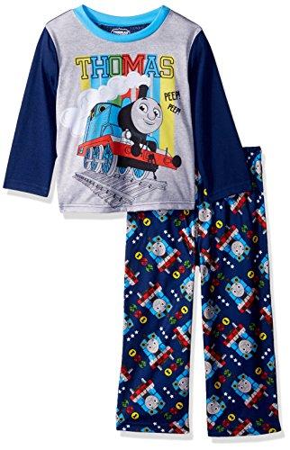 Thomas The Train Boys' Toddler Choo 2-Piece Pajama Set, time, 3T -