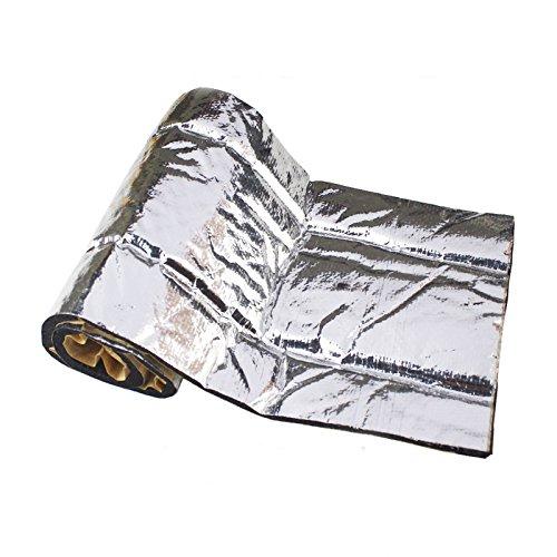 4bang Sound Deadener Heat Shield Insulation Deadening Material Mat Automotive Bonnet Hood Firewall Black 60''x39'' Self-Adhesive by 4bang