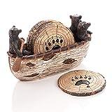 Bear Coasters Set – 6 Full Size Rustic Coasters