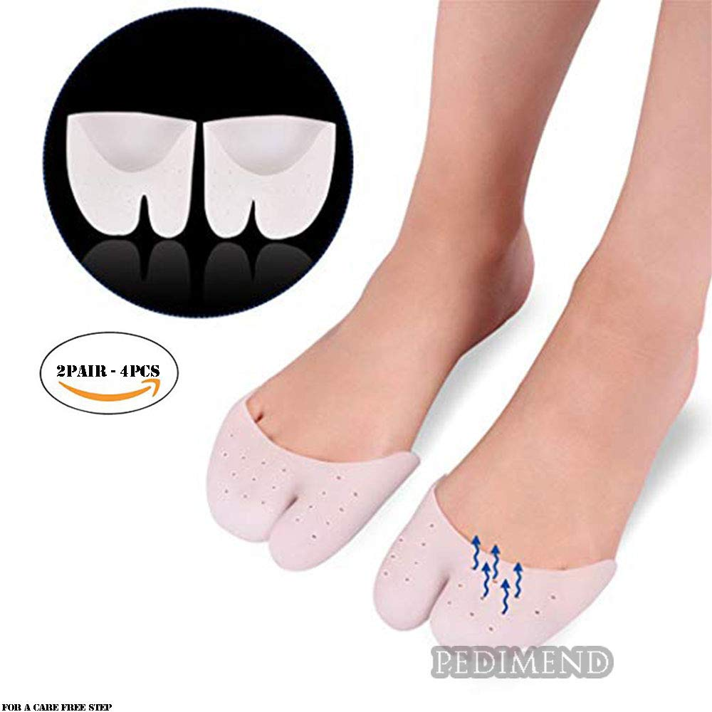 PEDIMEND Gel Toe Sleeve Metatarsal Pads (2PAIR - 4PCS) | Ball of Foot Cushion | Ballet Dance Shoe for Calluses, Blisters & Corns | Unisex | Foot Care