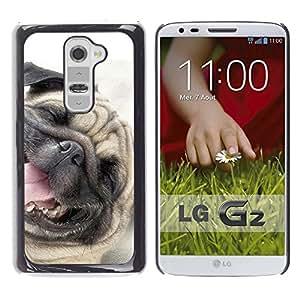 Vortex Accessory Carcasa Funda PARA LG G2 For - Pug Happy Dog Pet Canine Smiling