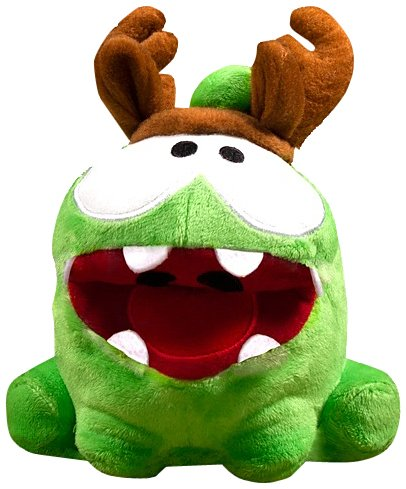 """Om Nom Antlers Poseable Plush - Cut The Rope - 12cm 5"""""""