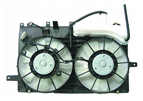 Radiator Dual Cooling Fan w/Coolant Overflow Bottle Tank Reservoir for Prius
