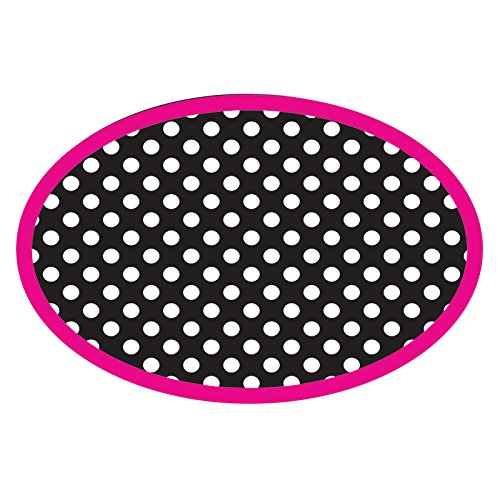 Ashley ASH10048BN Magnetic Whiteboard Eraser, Blk/Wht Dots, MultiPk 6 Each