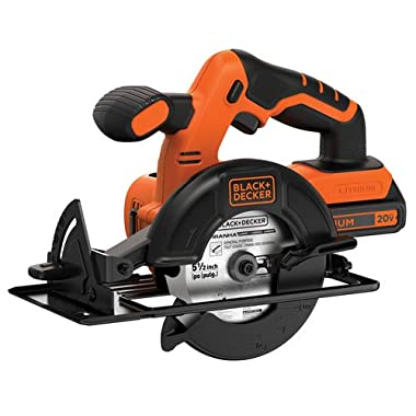 BLACK and DECKER 20V MAX 5-1/2-Inch Cordless Circular Saw - model BDCCS20C