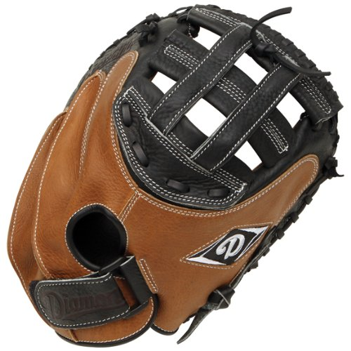 Diamond Fast Pitch Cather's Mitt-Righty for Right Handed Thrower, Tan/Black
