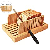 Best Bread Slicers - Bamboo Adjustable Bread Machine Wood Bread Slicer For Review