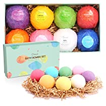 BESTOPE Bath Bombs Gift Set, 8 x 3.5 oz Vegan Natural Essential Oil & Lush Fizzy and Spa Bubble Bath Moisturizes Dry Skin, Luxury Gift for Women, Mom, Teen Girl, Valentines, Birthday