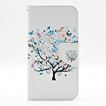 S5 Case, Galaxy S5 Case, GOODTONY [Wallet Function] The unique design PU Leather Wallet Stand Flip Case Cover for Samsung Galaxy S5 (Butterfly Floral)