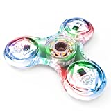 TOYK fidget toys,spinner fidget toys The Anti-Anxiety 360 Spinner Helps Focusing Toys [3D Figit] Premium Quality EDC Focus Toy for Kids & Adults - Stress Reducer Relieves ADHD Anxiety With LED lights