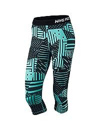 Nike Women's Pro Patchwork Capri Blue/Black