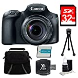 Cheap Canon PowerShot SX60 HS Digital Camera 32GB Bundle Includes 32GB SD Card, Compact Deluxe Gadget Bag, NB-10L Battery, Hi-Speed SD USB Card Reader, 5″ Flexible Table-top Tripod & 3pc. Lens Cleaning Kit
