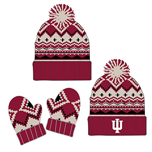 Top of the World Knitted Indiana University Hoosiers Toddler Beanie and Glove Set