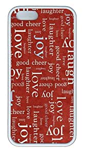 cute cover love joy texture TPU White Case for iphone 5/5S