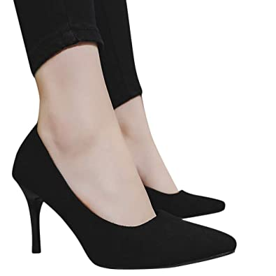Image Unavailable. Image not available for. Color  Seaintheson Pointed Toe  Heels for Women Pump ff1d38aec487