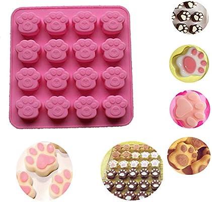 Molde de silicona con diseño de huellas de gato para galletas y ...