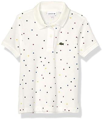 Lacoste - Polo para niñas con Estampado de Lunares Multicolor ...