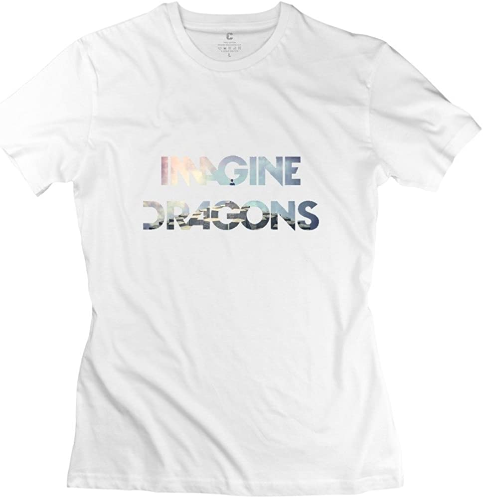 HD-Print Cool Imagine Dragons T-Shirt for Woman Pink
