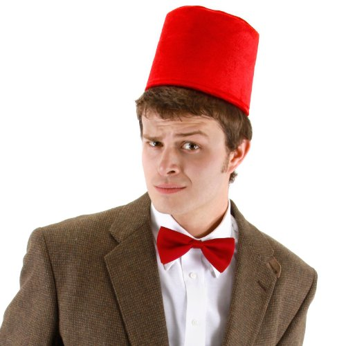 11th Doctor Fez and Bowtie Set Costume Accessory Set (Halloween Costumes Dr Who)