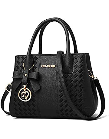 e92c6185ee6b95 Purses and Handbags for Women Fashion Ladies PU Leather Top Handle Satchel Shoulder  Tote Bags
