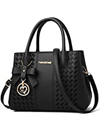 c31a9745de Purses and Handbags for Women Fashion Ladies PU Leather Top Handle Satchel  Shoulder Tote Bags