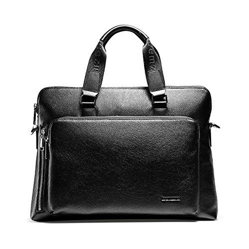 Teemzone Mens Genuine Leather Cross-body Shoulder Messenger Bag with Strap