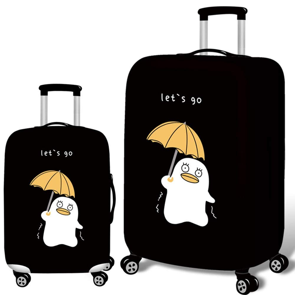 18-21 Color : Black, Size : S JIANGXIUQIN-Bag Luggage Cover Vivid HD Digital Printing Travel Luggage Cover Washable Suitcase Cover Fit 18-32 Inch Luggage Luggage Protector