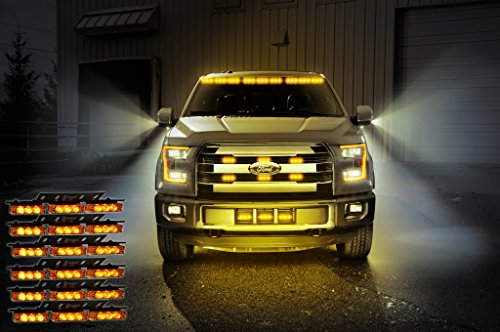Zone Tech Amber 54x LED Emergency Service Vehicle Deck Grill Warning Light - 1 set