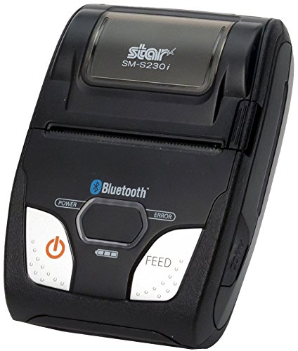 Star Micronics SM-S230i Compact and Portable Bluetooth/USB Receipt Printer with Tear Bar - Supports iOS, Android, Windows ()
