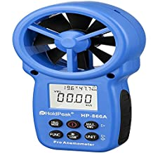 HoldPeak HP-866A Portable Wind Speed Air Volume Meter Anemometer USB/Handheld with Data Logger Feature and Carry Bag
