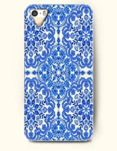 THYde OOFIT Apple iPhone 6 plus 5.5 Case Moroccan Pattern ( Royal Blue Flowers ) ending