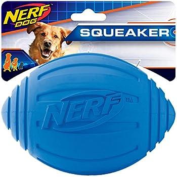 Amazon.com : Nerf Dog Ridged Football Dog Toy with