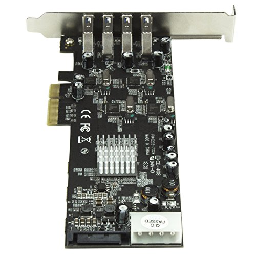 StarTech.com 4 Port PCI Express (PCIe) SuperSpeed USB 3.0 Card Adapter w/ 4 Dedicated 5Gbps Channels - UASP - SATA / LP4 Power by StarTech (Image #3)