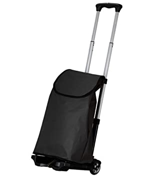 office trolley cart. Folding Hand Trolley Shopping Cart With Black Bag , 77 Lbs Capacity  Heavy-Duty Luggage Office N