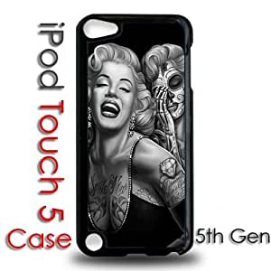 IPod 5 Touch Black Plastic Case - Marilyn Monroe Day of the Dead Dia de los muertos