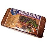 Coco Earth 650g Coconut Coir Wrapped Compressed Brick - Great for Container Gardens, Hydroponics, Worm Composting Bins,