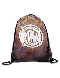 Motionless In White Band Logo GYM Drawstring Backpack Bag