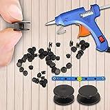300pcs Black Buckle Plastic Button