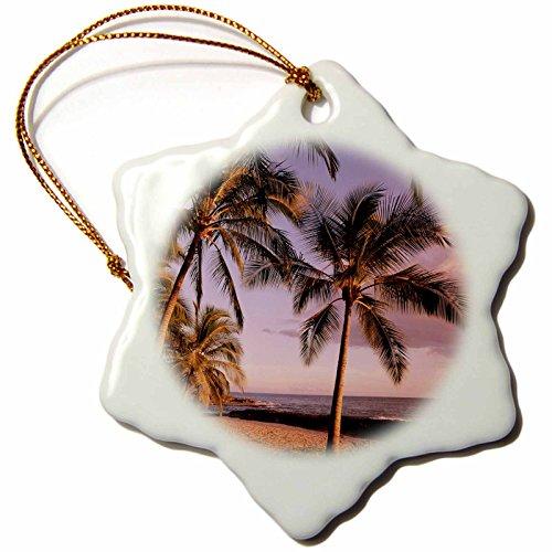 3dRose Koolina, Oahu, Hawaii, USA Us12 Dpb0873 Douglas Peebles Snowflake Ornament, 3'' by 3dRose