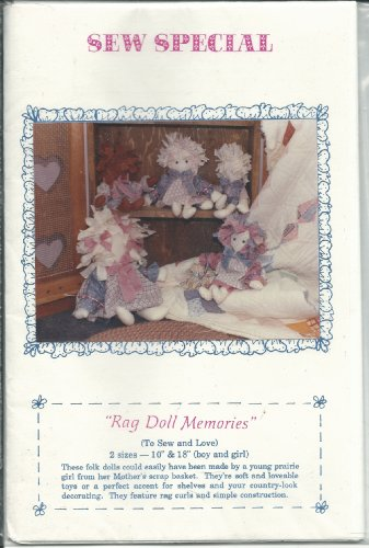 Sew Special Sewing Pattern Rag Doll Memories Size 10